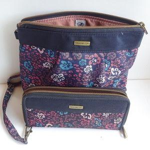 Travelon wallet and bag